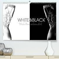 White and Black - Weibliche Formen in hartem Licht (Premium, hochwertiger DIN A2 Wandkalender 2022, Kunstdruck in Hochglanz): Schwarzweiss Fotos von Frauen, bei denen die weichen Formen durch die Lichtfuehrung in den Fokus gestellt werden. (Monatskalender, 14 Seiten )