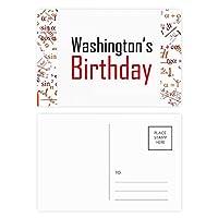 ワシントンの誕生日を祝福の祭りの休日を祝う祭りの祝賀の言葉 公式ポストカードセットサンクスカード郵送側20個