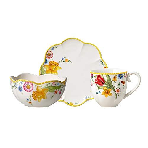 Villeroy & Boch Spring Awakening Frühstücks-Set, 6-tlg., Premium Porzellan, Bunt