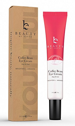 Caffeine Under Eye Cream - Anti Aging Coffee Bean Eye Treatment for Dark Circles, With Organic Aloe Vera & Antioxidant Extracts, Eye Bags Treatment, Eye Wrinkle Cream for Dark Circles and Puffiness