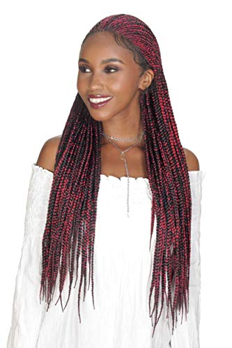 "Zury Sis Synthetic Diva Braid Lace Front Wig - FULANI BOX 30"" (1 Jet Black)"