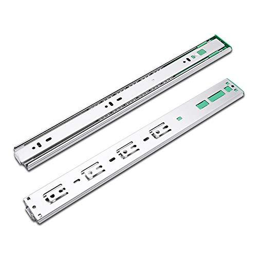 Quiet motion drawer slides, shelf bearing slides, , Führungsschiene Puffermöbel Hardware 10 '' - 24 '', 1 Paar Metallstahlschublade Kugellager Schublade Rutsche Folien Drawer slide ball shaft, install