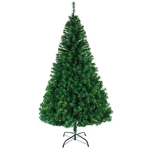 Cypress Shop PVC Christmas Tree 8 Feet 1138 Tips with Metal Stand X'Mas Tree Tips Durable Stable Indoor Outdoor Green Holiday Greeting Celebration Happy Season Home Decor