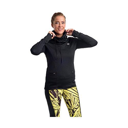 Nessi Sweat-Shirt à obod Fitness Respirant Course T-Shirt à Manches Longues S Noir (90)