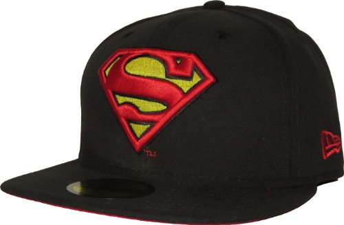 New Era x DC Comics - Casquette Fitted Homme Superman 59Fifty Character Basic Badge - Black - Taille 6 7/8