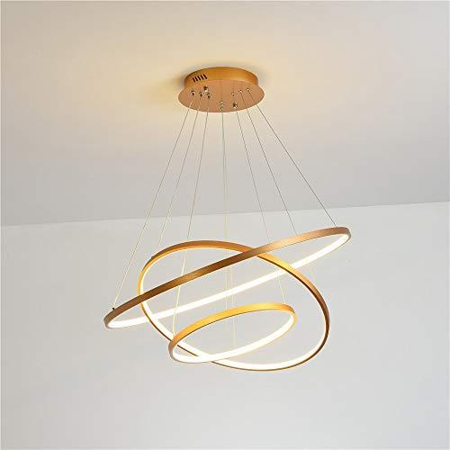 Techo de iluminación colgante LED Modern Minimalista Lámpara de oro cepillada, no fácil de desvanecer, seguro y confiable, iluminación de araña colgante, accesorio de luz de araña, candelabros para co