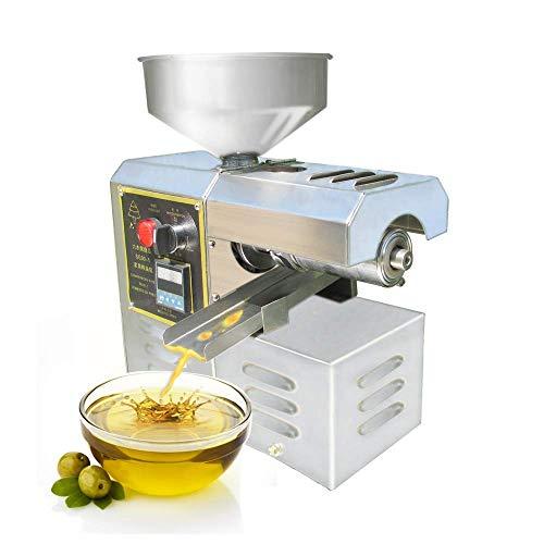 YJINGRUI Ölpresse, elektrisch, Ölpresse, automatisch, intelligenter gepresster Ölextraktor für Erdnuss/Teesamen/Sesam/Sonnenblumensamen (6–7 kg/Stunde)