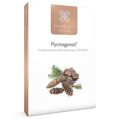 Pycnogenol | Healthspan | 60 Tablets | French Maritime Pine Bark | Naturally Powerful Bioflavonoids | Vegan