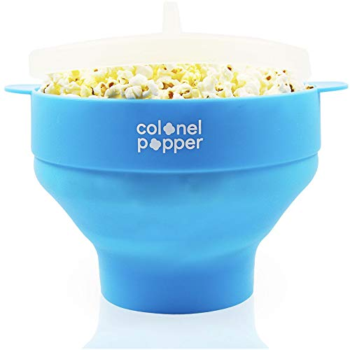 Find Discount Colonel Popper Microwave Popcorn Maker Air Popper Silicone Bowl - Use any Kernels, Sal...