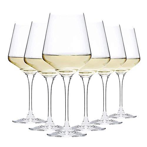Unishop Copas de Vino de 44CL, Copas de Vidrio, para Uso en Casa, Restaurante y Fiestas