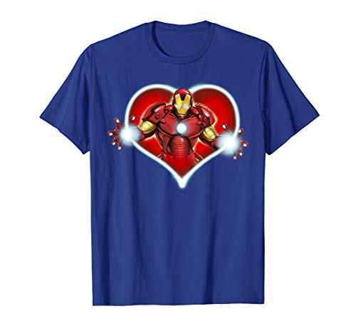 Marvel Iron Man Heart Blaster Glow Valentine Graphic T-Shirt