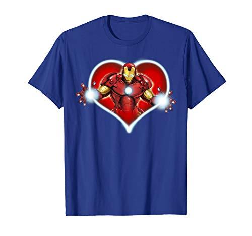 Marvel Iron Man Heart Blaster Glow Valentine Graphic T-Shirt