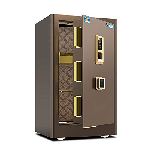 Rawall-hom Elektronischer Safe Digital elektronischer Safe mit Key für Haus- und Hotel (Farbe, Size : 41.8x39x60cm)