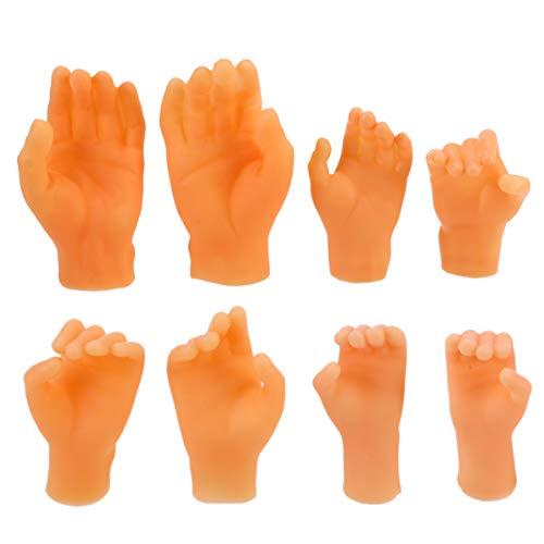 NUOBESTY 4 Paar Hautton Finger Hände Weiche Plastikhände Handschuhe Realistische Handschuhe Verkleiden Sich für Karneval Party