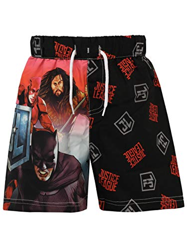 DC Comics Jungen Justice League Badeshorts Schwarz 128