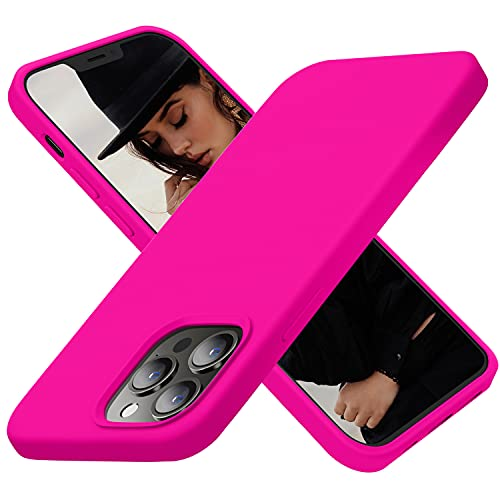 Cordking Designed for iPhone 13 Pro Max Case for Women, Silicone Ultra Slim Shockproof Protective Phone Case with [Soft Anti-Scratch...