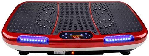 WEIZI Vibration Platform Machines U Disk Music Pantalla LCD a Color con Control Remoto Plataforma vibratoria Power Plate Máquina de Entrenamiento Crazy Fit Peso máximo de Usuario 330 LB