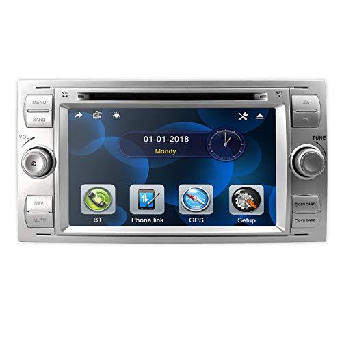 hizpo Doppel Din 7 Zoll Autoradio GPS-Navigation skonsole in Dash Headunit für Ford Focus Unterstützung Touchscreen Bluetooth RDS Spiegelverbindung Lenkradkontrolle Rückfahrkamera in DVD-Spieler DAB+