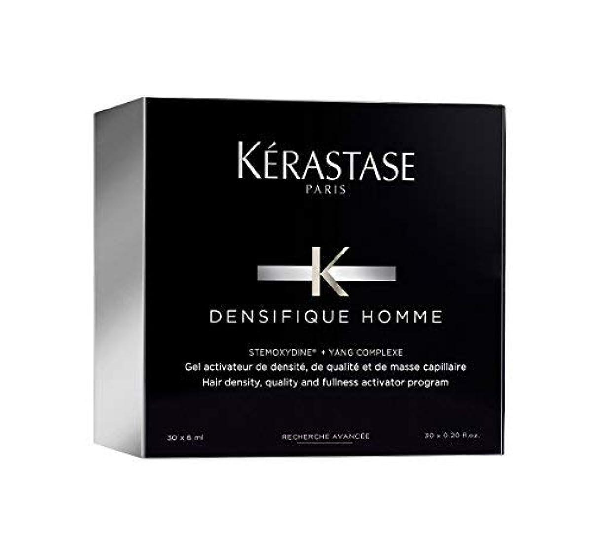 厚さ不良応答ケラスターゼ Densifique Homme Hair Density and Fullness Programme 30x6ml