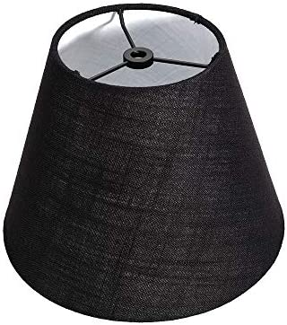 Tootoo Star Barrel Black Small Lamp Shade for Table Lamps Replacement 5x7x9 Inch Fabric Cloth product image