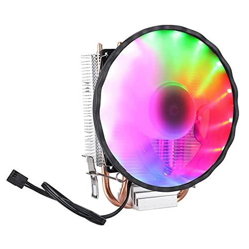 Vcriczk Ventilador de enfriamiento de CPU de 12 cm, Ventilador de CPU, Ventilador de enfriamiento de Aire, 2 Tubos para computadora del Sistema de enfriamiento