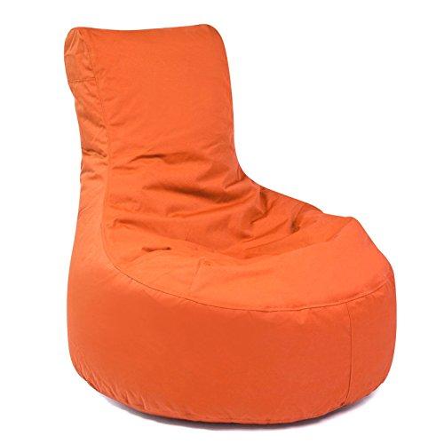 Pouf d'extérieur Slope Plus résistant aux intempéries et au gel - Chaise de jardin pour l'extérieur - Chaise longue de jardin moderne - Orange