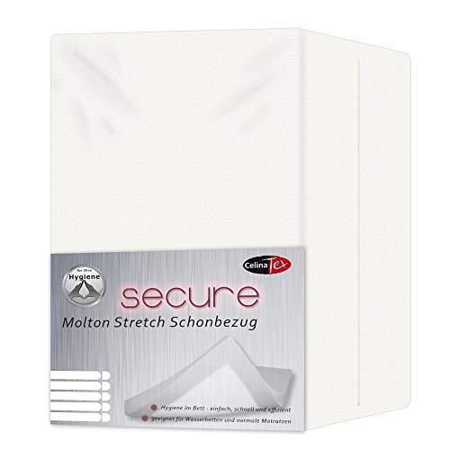 CelinaTex Secure Schonbezug 90 x 200-100 x 200 cm Molton Stretch Matratzenauflage Wasserbetten Unterbett 0003058