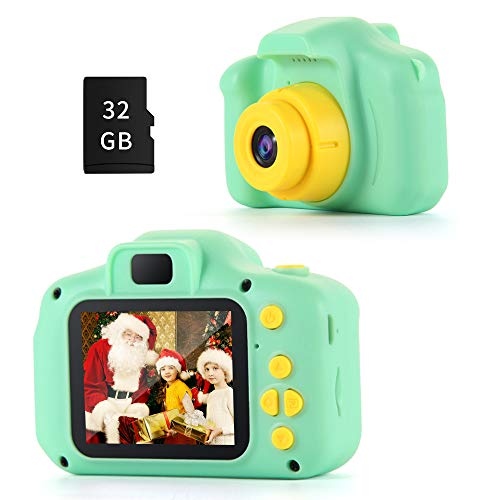 OMWay Best Christmas Birthday Gifts for Boys Kids, Kids Digital Camera, Toys for 4-12 Year Old Boys,12MP HD Camcorders(32GB SD Card Included).