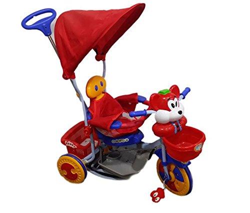 TRICICLO 3 IN 1 CON MANICO DIREZIONABILE, PARASOLE E DONDOLO ITN 830ACR (tricycle and rocking chair)