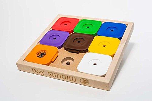 My Intelligent Dogs Interaktives Hundespielzeug aus Holz Dog' Sudoku Rainbow Profi, M
