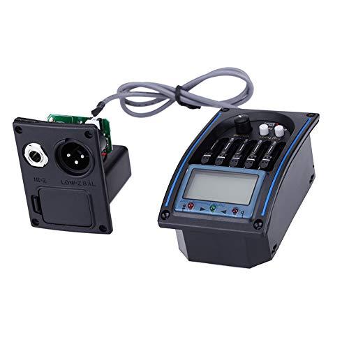 HshDUti 5-Band EQ Equalizer Akustikgitarren-Pickup, LCD-Bildschirm für LC-5-Tunerzubehör Black