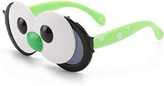 Heerda - Heerda Gafas de Sol - Ojos Grandes de Dibujos Animados Gafas de Sol Flexibles de Silicona polarizadas para niños niñas