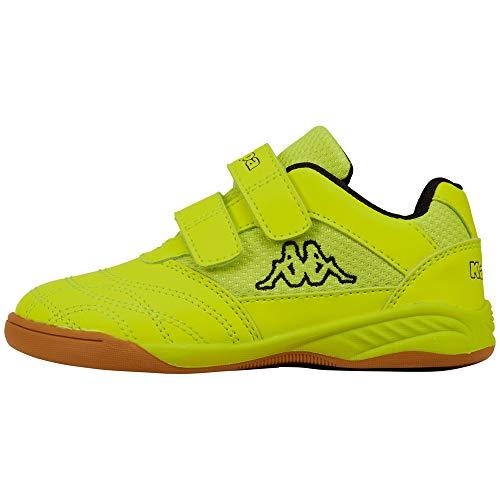Kappa Unisex Kickoff OC Kids Sneaker, 4011 Yellow/Black, 40 EU