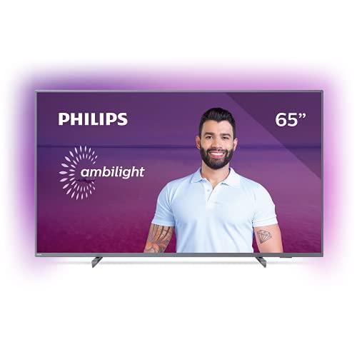"Smart TV Philips 65PUG6794/78-65"" 4K UHD AMBILIGHT 3 lados HDR10+ Dolby Vision Dolby Atmos Bluetooth Wifi 3 HDMI 2 USB - Prata"