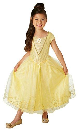 La Bella y la Bestia - Disfraz de Bella Premium para niña, infantil 5-6 años (Rubie