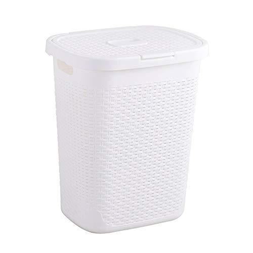 Kcakek Vuile kleren Storage Basket Plastic Wasmand kleren aandoet Storage Basket Plastic wasmand Supplies met deksel Storage wasmand Storage Basket