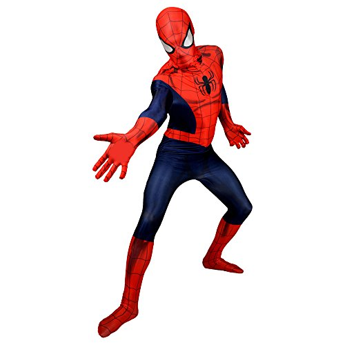 "Morphsuits Costume da Spiderman, Medium 4'7"" - 5'2"" (138cm - 158cm)"