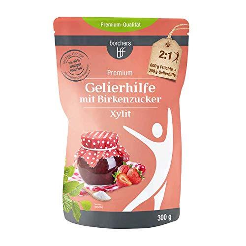 borchers Gelificante con xilitol de azúcar de abedul, para untar frutas, alternativa al azúcar gelificante, de Finlandia 300 g