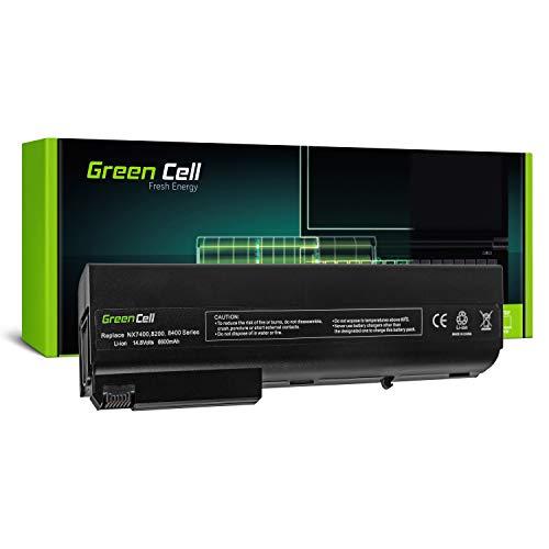 Green Cell Extended Serie Laptop Akku für HP Compaq 8510p 8510w 8710p 8710w nc8200 nc8220 nc8230 nc8430 nw9440 nw8240 nw8440 nx7300 nx7400 nx8220 nx9420 (12 Zellen 6600mAh 14.4V Schwarz)