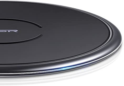 ESR Wireless Charger, [10W/7.5W Metal Frame] Fast-Charging for iPhone 11/11 Pro/11 Pro Max/Xs/Xs Max/XR/X/8, Galaxy S20/S20+/S20 Ultra/Note 10/S10/S9, Standard Charging for AirPods, Pixel 4, Black