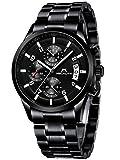 Herren Uhren Männer Militär Wasserdicht Sport Chronograph Schwarz Edelstahl Armbanduhr Design...