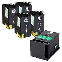 ICBK75 エプソン互換インクカートリッジ EPSON互換 IC75シリーズ ブラック4本+メンテナンスボックスPXMB3 1個 インクファクトリー