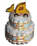 Tarta de pañales mágica para niños o neutral, regalo para baby shower,...