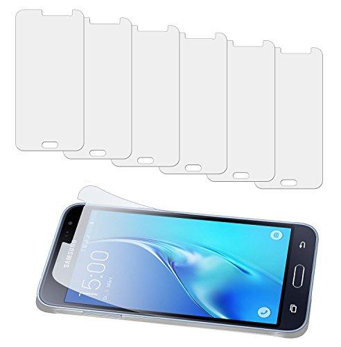 yayago 6er Set Bildschirm Schutzfolie für Samsung Galaxy J3 2016 / Samsung Galaxy J3 Duos 2016