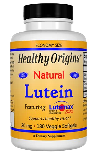Lutein Zeaxantina 20Mg (180 SGels) Healthy Origins