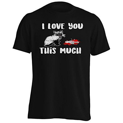 INNOGLEN Ti Amo così Tanto Cat Sarcastic Uomo T-Shirt v820m