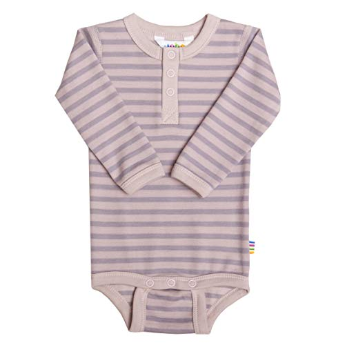 Joha Body à manches longues en laine mérinos et coton bio pour fille - Rose - 4 ans