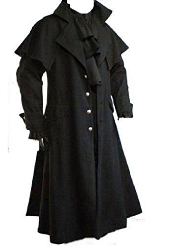 Inter-Moden Tageskleidung - Herren Gothic Kutscher Mantel Raven-Claw XL