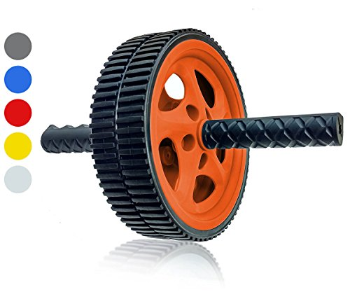 Wacces AB Roller Wheel Power - Exercise & Fitness Wheel With Easy Grip Handles Equipment For Core Training & Abdominal Workout At Home or Gym