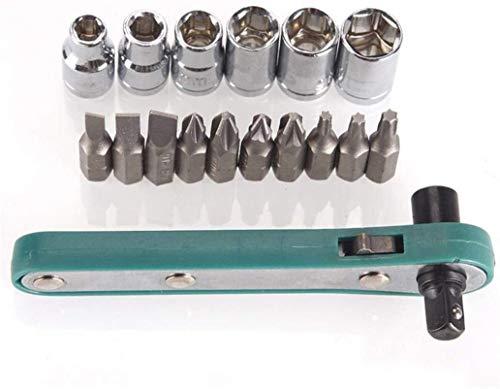 Bonne anti-corrosion et anti-rouille Werkzeuge for Home Nützliche Kits 1/4 Schraubendreher 17pcs Mini Schnelle Ratsche Rod 6.35 Schnell Sockel dureté élevée, un couple élevé